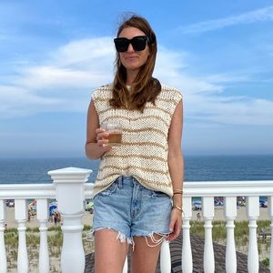 Free people neutral knit top